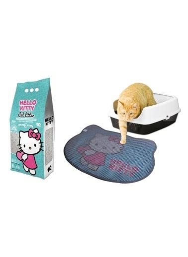 Hello Kitty HELLO KITTY 10L MARSILYA SABUNU KOKULU BENTONİT KEDİ KUMU VE PASPAS Renkli